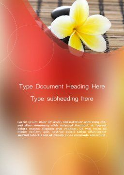 Spa Therapy Word Template, Cover Page, 11803, General — PoweredTemplate.com