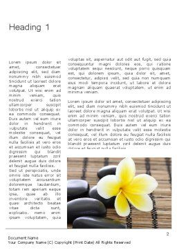 Spa Therapy Word Template, First Inner Page, 11803, General — PoweredTemplate.com