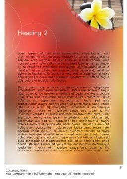 Spa Therapy Word Template Second Inner Page