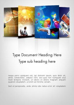 Visual Reports Word Template, Cover Page, 11805, Business — PoweredTemplate.com