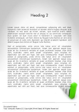 Results Based Process Word Template, Second Inner Page, 11806, Business Concepts — PoweredTemplate.com