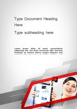 Technology Presentation Word Template Cover Page
