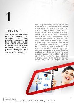 Technology Presentation Word Template First Inner Page