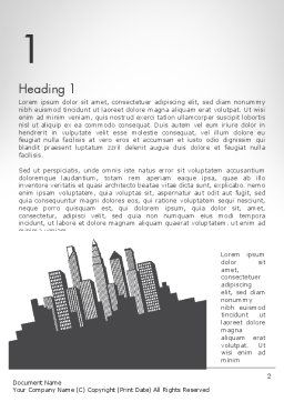 Downtown Silhouette Word Template, First Inner Page, 11811, Construction — PoweredTemplate.com