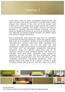 Interior Design Ideas Word Template Second Inner Page