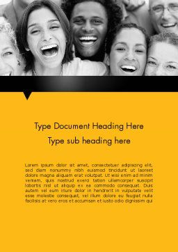 Laughing People Word Template, Cover Page, 11818, People — PoweredTemplate.com