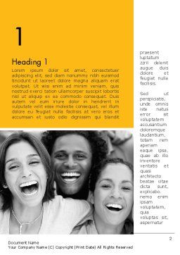 Laughing People Word Template, First Inner Page, 11818, People — PoweredTemplate.com
