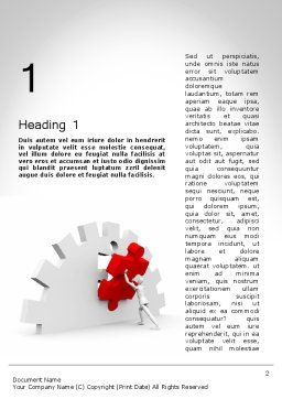 Making Process Improvement Word Template, First Inner Page, 11819, Business Concepts — PoweredTemplate.com