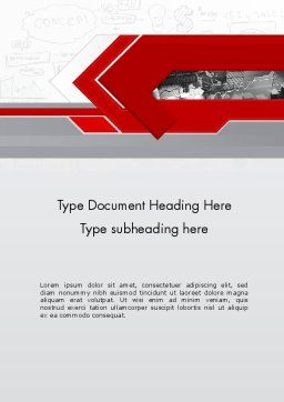 Business Presentation Concept Word Template, Cover Page, 11821, Business — PoweredTemplate.com