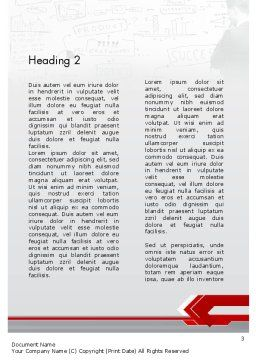Business Presentation Concept Word Template, Second Inner Page, 11821, Business — PoweredTemplate.com