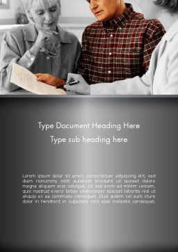 Estate Planning Services Word Template, Cover Page, 11827, People — PoweredTemplate.com