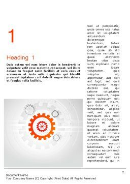 Flat Design Gears Word Template, First Inner Page, 11828, Business Concepts — PoweredTemplate.com