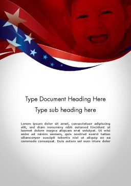 Red White and Pure Word Template, Cover Page, 11832, America — PoweredTemplate.com