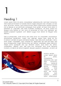 Red White and Pure Word Template, First Inner Page, 11832, America — PoweredTemplate.com