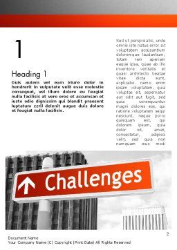 Challenges Word Template, First Inner Page, 11833, Business Concepts — PoweredTemplate.com