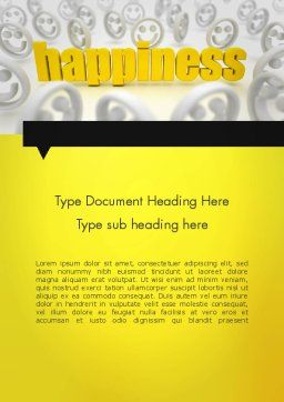Happiness is a Choice Word Template, Cover Page, 11839, Education & Training — PoweredTemplate.com