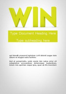 Word WIN Word Template, Cover Page, 11840, Business Concepts — PoweredTemplate.com