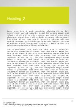 Word WIN Word Template, Second Inner Page, 11840, Business Concepts — PoweredTemplate.com