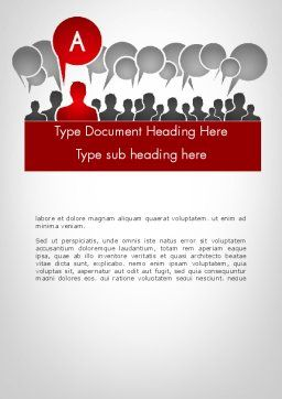 Customer Experience Word Template, Cover Page, 11842, Careers/Industry — PoweredTemplate.com
