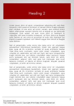Customer Experience Word Template Second Inner Page
