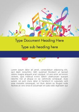 Colorful Tunes Word Template Cover Page