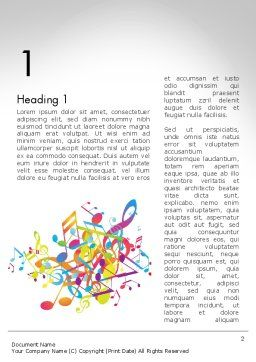 Colorful Tunes Word Template First Inner Page