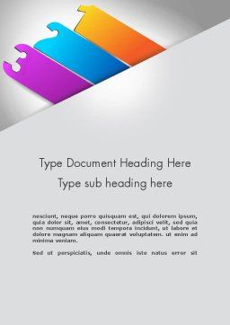 Three Choices Word Template, Cover Page, 11852, Business — PoweredTemplate.com