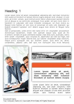 Enterprise Presentation Word Template, First Inner Page, 11855, Business — PoweredTemplate.com
