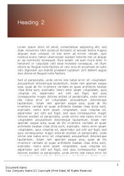 Enterprise Presentation Word Template, Second Inner Page, 11855, Business — PoweredTemplate.com