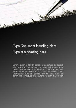 Graphic Data Analysis Word Template, Cover Page, 11859, Financial/Accounting — PoweredTemplate.com