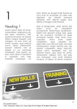 Skills Development Word Template, First Inner Page, 11862, Education & Training — PoweredTemplate.com
