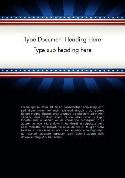 American Festive Theme Word Template, Cover Page, 11865, Holiday/Special Occasion — PoweredTemplate.com