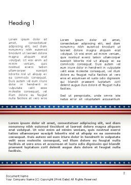 American Festive Theme Word Template, First Inner Page, 11865, Holiday/Special Occasion — PoweredTemplate.com