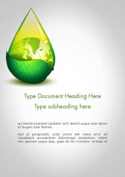 Green Cleaning Word Template, Cover Page, 11870, Nature & Environment — PoweredTemplate.com
