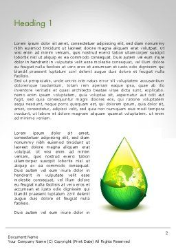 Green Cleaning Word Template, First Inner Page, 11870, Nature & Environment — PoweredTemplate.com