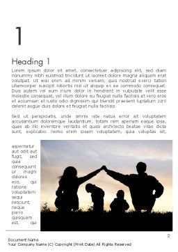 Family Silhouette Word Template, First Inner Page, 11872, People — PoweredTemplate.com