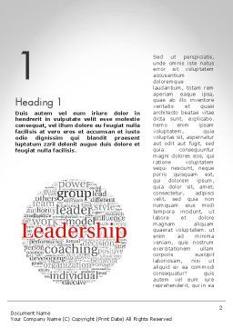 Leadership Word Cloud Word Template First Inner Page