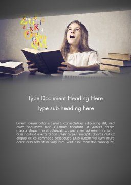 Child Imagination Word Template, Cover Page, 11879, Education & Training — PoweredTemplate.com