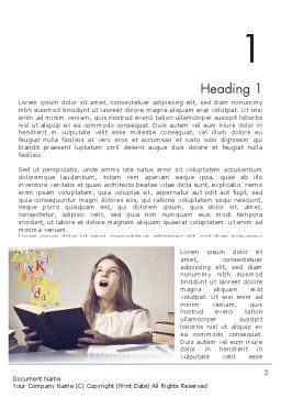 Child Imagination Word Template, First Inner Page, 11879, Education & Training — PoweredTemplate.com