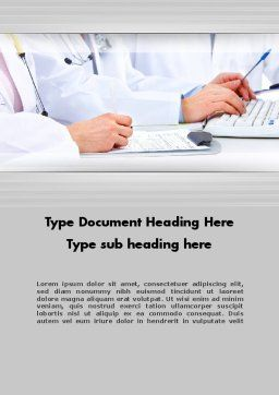 Occupational Medicine Word Template, Cover Page, 11880, Medical — PoweredTemplate.com