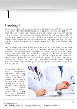 Occupational Medicine Word Template, First Inner Page, 11880, Medical — PoweredTemplate.com