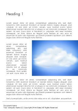 Fluffy Cumulus Cloud Word Template First Inner Page
