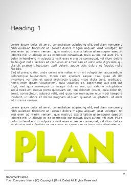 Word PLAN Word Template, First Inner Page, 11882, Business Concepts — PoweredTemplate.com