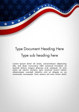 July 4th Banner Word Template, Cover Page, 11885, Holiday/Special Occasion — PoweredTemplate.com