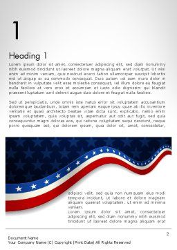 July 4th Banner Word Template, First Inner Page, 11885, Holiday/Special Occasion — PoweredTemplate.com