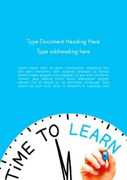 Time to Learn Word Template Cover Page