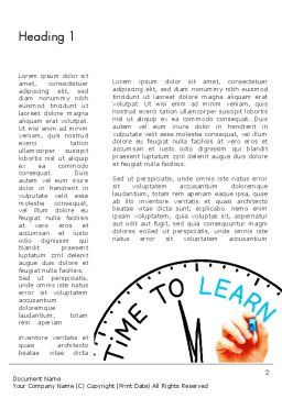 Time to Learn Word Template First Inner Page