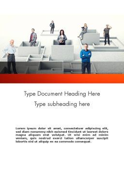 Crowdsourcing Word Template, Cover Page, 11892, Careers/Industry — PoweredTemplate.com