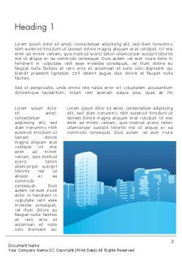 Urban City Word Template, First Inner Page, 11893, Construction — PoweredTemplate.com