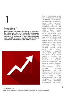 Growing Economy Word Template, First Inner Page, 11894, Consulting — PoweredTemplate.com